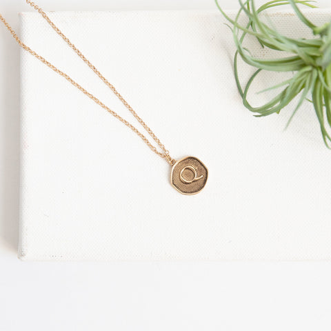Initial Collection Necklace - Letter Q