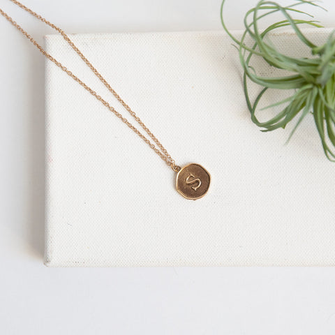 Initial Collection Necklace - Letter S
