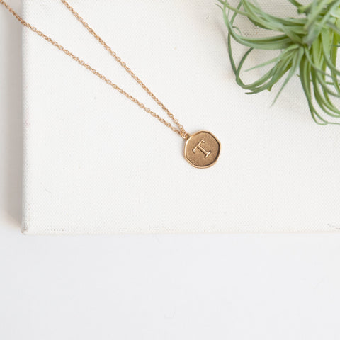 Initial Collection Necklace - Letter T