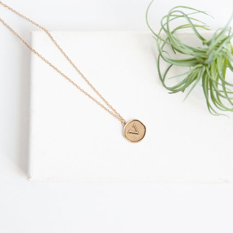 Initial Collection Necklace - Letter V