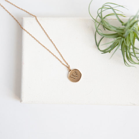 Initial Collection Necklace - Letter W