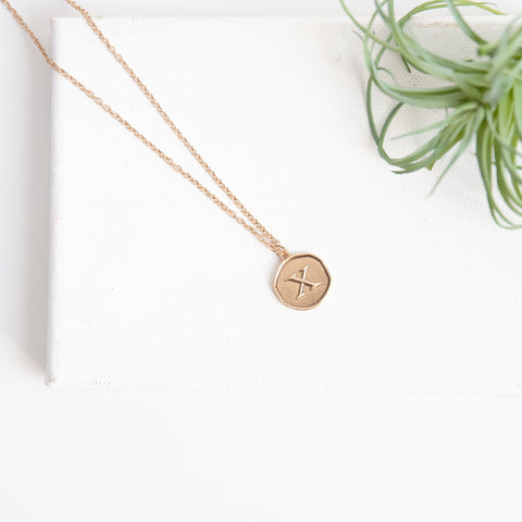 Initial Collection Necklace - Letter X
