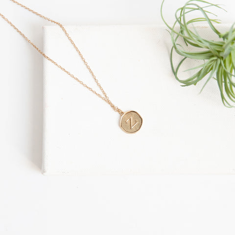 Initial Collection Necklace - Letter Z