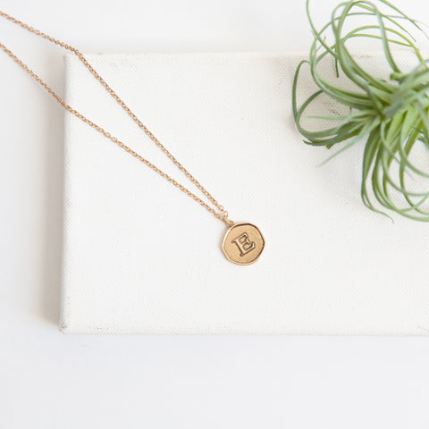 Initial Collection Necklace - Letter E
