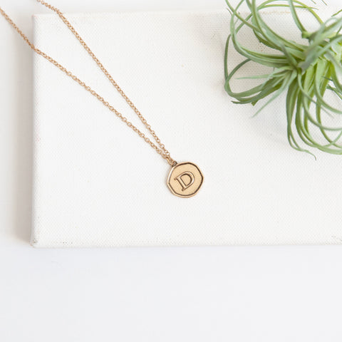 Initial Collection Necklace - Letter D