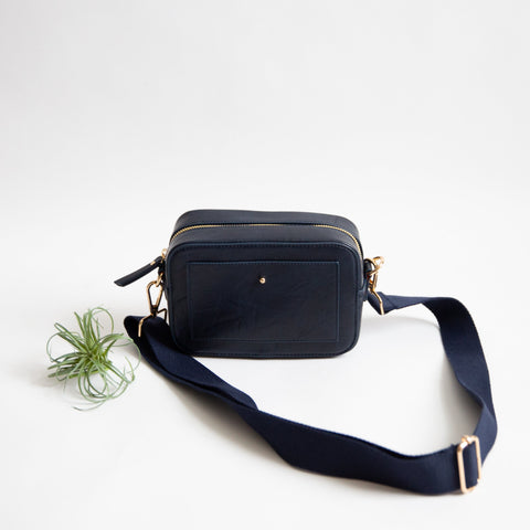 Wanderlust Camera Crossbody - Navy