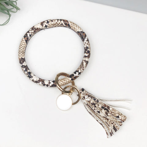 *Key Ring Bracelet Collection - Browns Snake Skin