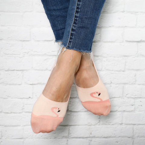 No Show Socks - Flamingo