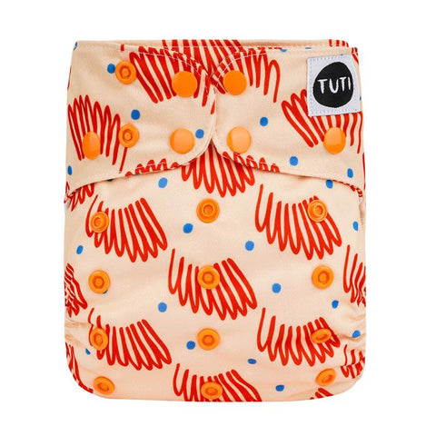 tuti OSFM cloth nappy - apricot daze