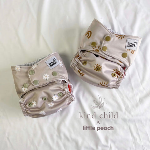 Little Peach Cloth OSFM cloth nappy - sunny rainbows