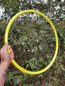 Lemon Drop Taped Hula Hoop