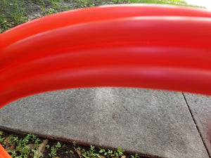 UV Red Polypro Bare Hoop 3/4