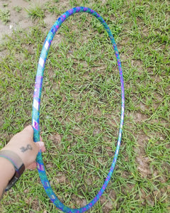 Purple Ganja Bright Night Reflective Taped Hoop