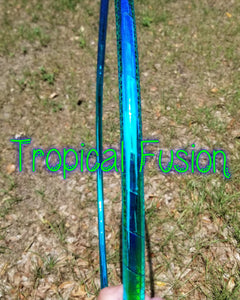 Tropical Fusion Reflective Color Morph Taped Hoop