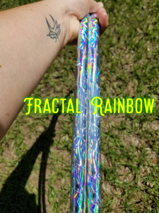 Fractal Rainbow Taped Hula Hoop