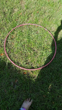 Load image into Gallery viewer, Pink Lily Holographic Glitter Hula Hoop Collapsible