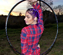 Load image into Gallery viewer, Goth Unicorn Glitter Hula Hoop Collapsible