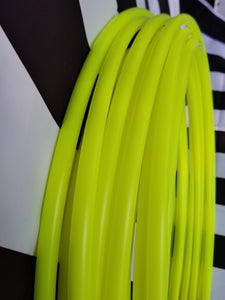 Sour Neon Sunshine- UV Yellow Polypro Bare Hoop 5/8
