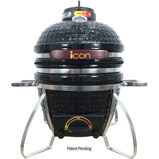Icon Grills 100 Series 214 Sq. Inch Kamado Grill with Stand Grill Black,White,Red,Teal Vision Grills Black