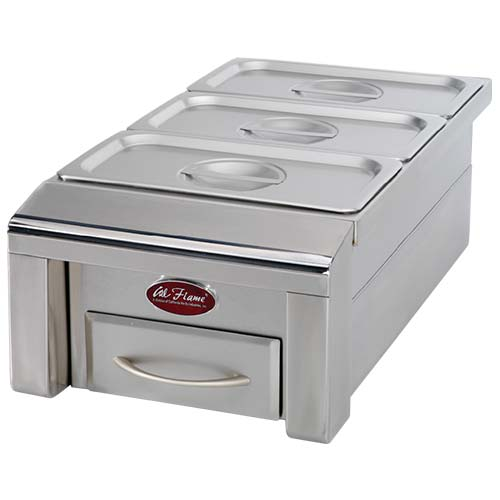 "Cal Flame - 12"" DROP IN FOOD WARMER - BBQ07888P Drop In Food Warmer Default Title Cal Flame Dark Gray"