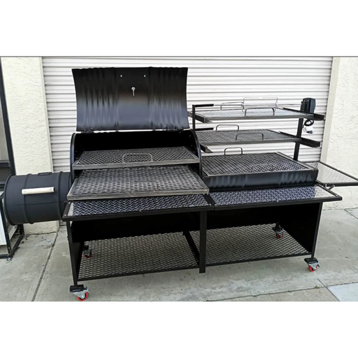 Moss Grills - Joys Ranch Style barbecue grill Double Barrel Grills Default Title Moss Grills Dark Slate Gray