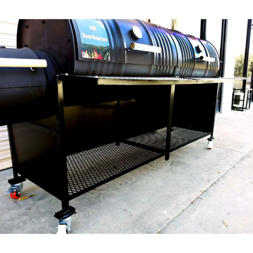 Deluxe Double Barrel Grill with Single Smoke Box and Side Wall Enclosure (203-1deluxe) Double Barrel Grills Default Title Moss Grills Black