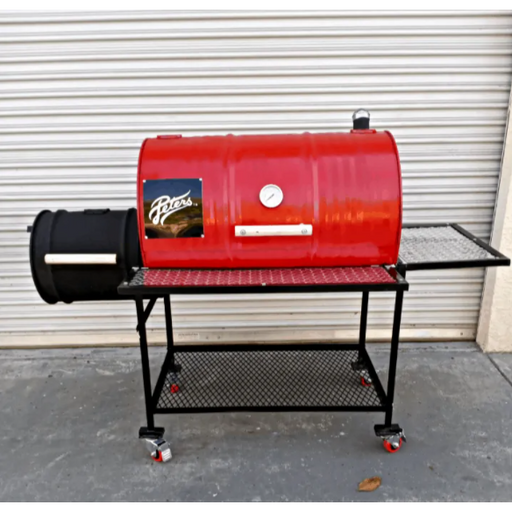 Moss Grills - Red Hot Barbecue Smoker with Offset Firebox Grill (101-1) Single Barrel Grills Default Title Moss Grills Firebrick