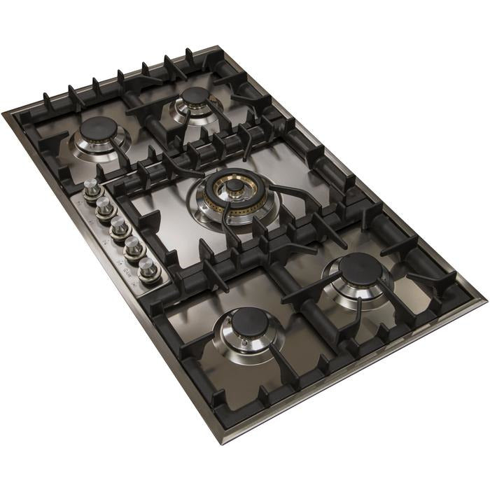 ILVE - 36 Inch Stainless Steel Natural Gas/Propane Cooktop - UHP95CI/UHP95CILP Cooktop Natural Gas,Liquid Propane ILVE Dark Slate Gray
