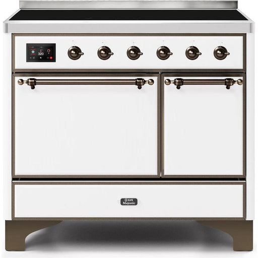 ILVE - Majestic II Series - 40 Inch Electric Freestanding Range (UMDI10QNS3) Ranges White / Bronze ILVE White Smoke