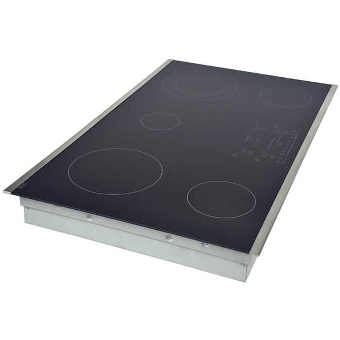 Hallman - 36 in. Smooth Top Electric Cooktop in Stainless Steel with 5 Elements including Flex-Power Element - HEC3601ST Cooktop Default Title Hallman Dark Slate Gray