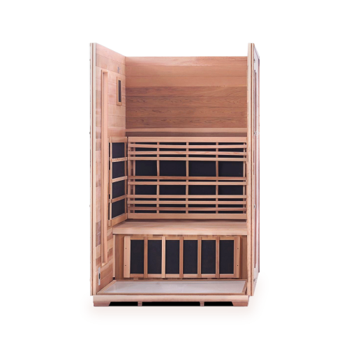 Enlighten Sauna - RUSTIC 2 - 2 Person Slope Full Spectrum Infrared Outdoor Sauna Infrared Sauna Default Title Enlighten Sauna White
