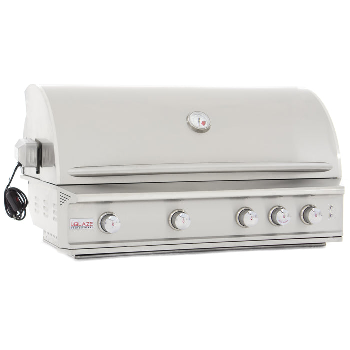"Blaze Professional 44"" Burner Built-In Gas Grill w/Rear Infrared Burner & Cart (BLZ-4PRO-LP/NG) - AllPro Furnishings"