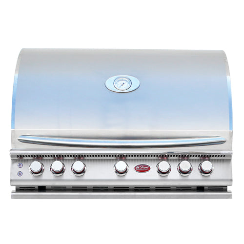 Cal Flame - 5 Burner Built In Convection Grill LP/NG - BBQ18875CP Built-In Grill Default Title Cal Flame Light Steel Blue