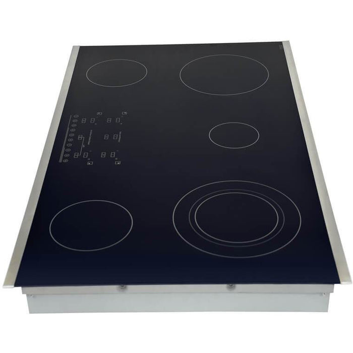 Hallman - 36 in. Smooth Top Electric Cooktop in Stainless Steel with 5 Elements including Flex-Power Element - HEC3601ST Cooktop Default Title Hallman Black
