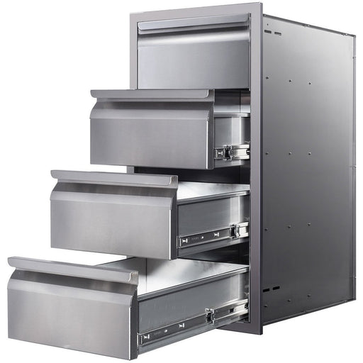 "Memphis Grills - VGC15DB4 - Four Drawer Stack 15"" Storage Drawer Default Title Memphis Grills Dark Gray"