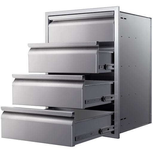 "Memphis Grills - VGC21DB4 - Four Drawer Stack 21"" Storage Drawer Default Title Memphis Grills Dim Gray"