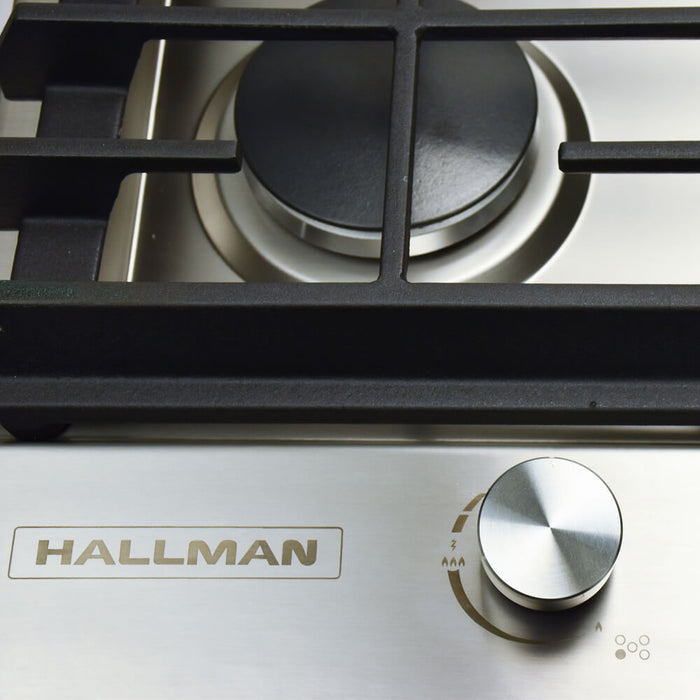 Hallman - 36 in. Gas Cooktop in Stainless Steel with 5 Burners Including a Tri-Ring Power Burner - HGC3602ST Cooktop Default Title Hallman Dark Slate Gray