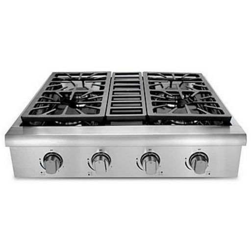 Hallman - 30 in. Professional Gas Rangetop with 4 Sealed Burners, Porcelain-Coated Drip Pans, in Stainless Steel - HRT3003U Ranges Default Title Hallman Gray