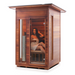 Enlighten Sauna - RUSTIC 2 - 2 Person Slope Full Spectrum Infrared Outdoor Sauna Infrared Sauna Default Title Enlighten Sauna Saddle Brown