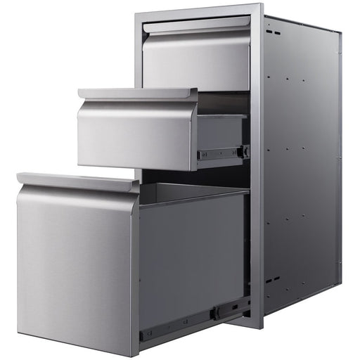 "Memphis Grills - VGC15DB3 - Three Drawer Stack 15"" Storage Drawer Default Title Memphis Grills Dim Gray"
