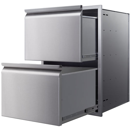 "Memphis Grills - VGC21DB2 - Two Drawer Stack 21"" Storage Drawer Default Title Memphis Grills Dim Gray"
