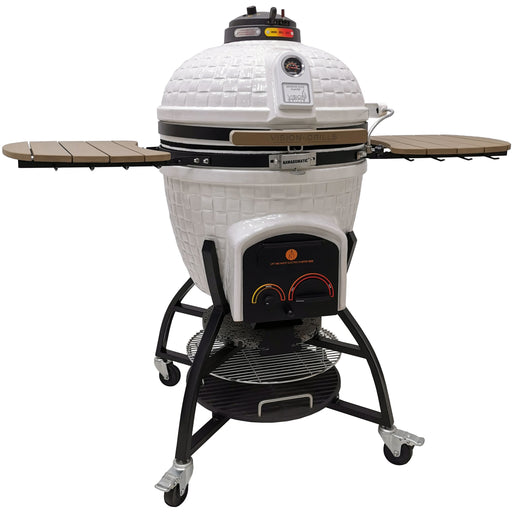 Vision Grills Elite Series XR402 Deluxe 604 Sq. Inch Ceramic Kamado Grill White Vision Grills Black