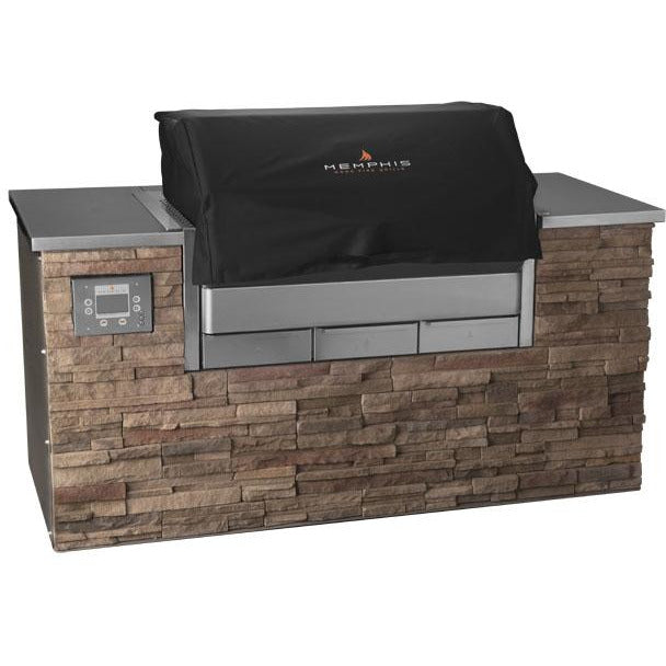 Memphis Grills - VGCOVER-6 - Elite Built-In Cover Grill Cover Default Title Memphis Grills Dark Olive Green