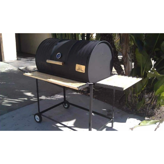 Moss Grills - Single BBQ Barrel Custom Grill with Wood Countertops (103) Single Barrel Grills Default Title Moss Grills Dark Slate Gray