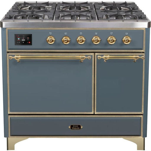 ILVE - Majestic II Series - 40 Inch  Dual Fuel Freestanding Range Gas/Propane (UMD10FDQNS3) Ranges Natural Gas / White / Bronze,Natural Gas / White / Brass,Natural Gas / White / Copper,Natural Gas / White / Chrome,Natural Gas / Custom RAL Color / Bronze,Natural Gas / Custom RAL Color / Brass,Natural Gas / Custom RAL Color / Copper,Natural Gas / Custom RAL Color / Chrome,Natural Gas / Blue / Bronze,Natural Gas / Blue / Brass,Natural Gas / Blue / Copper,Natural Gas / Blue / Chrome,Natural Gas / Antique White