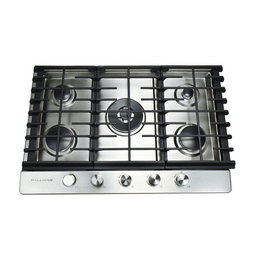 Hallman - 30 in. Gas Cooktop in Stainless Steel with 5 Burners Including a Tri-Ring Power Burner -  HGC3002ST Cooktop Default Title Hallman Dark Slate Gray