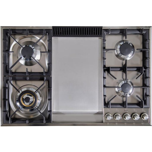 ILVE - 36 Inch Stainless Steel Natural Gas Cooktop - UXLP90FI Cooktop Default Title ILVE Dark Gray