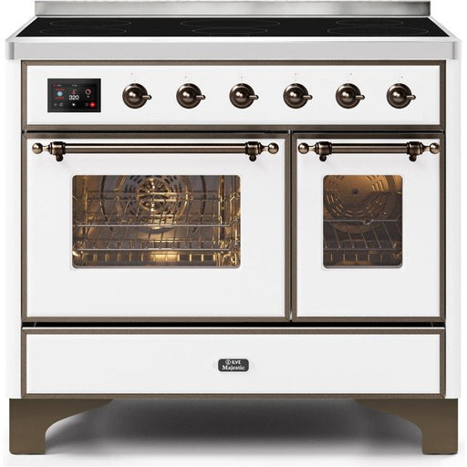 ILVE - Majestic II Series - 40 Inch Electric Freestanding Range (UMDI10NS3) Ranges White / Bronze ILVE Dark Olive Green