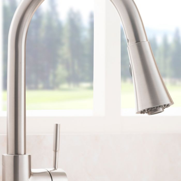 ZLINE - EDISON KITCHEN FAUCET IN BRUSHED NICKEL (EDS-KF-BN) Kitchen Faucets Default Title Zline White Smoke