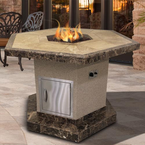 Cal Flame - Firepit - FPT-H1050T Firepit Default Title Cal Flame Dim Gray